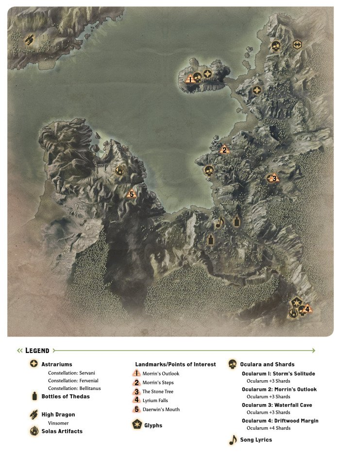 The Storm Coast Map