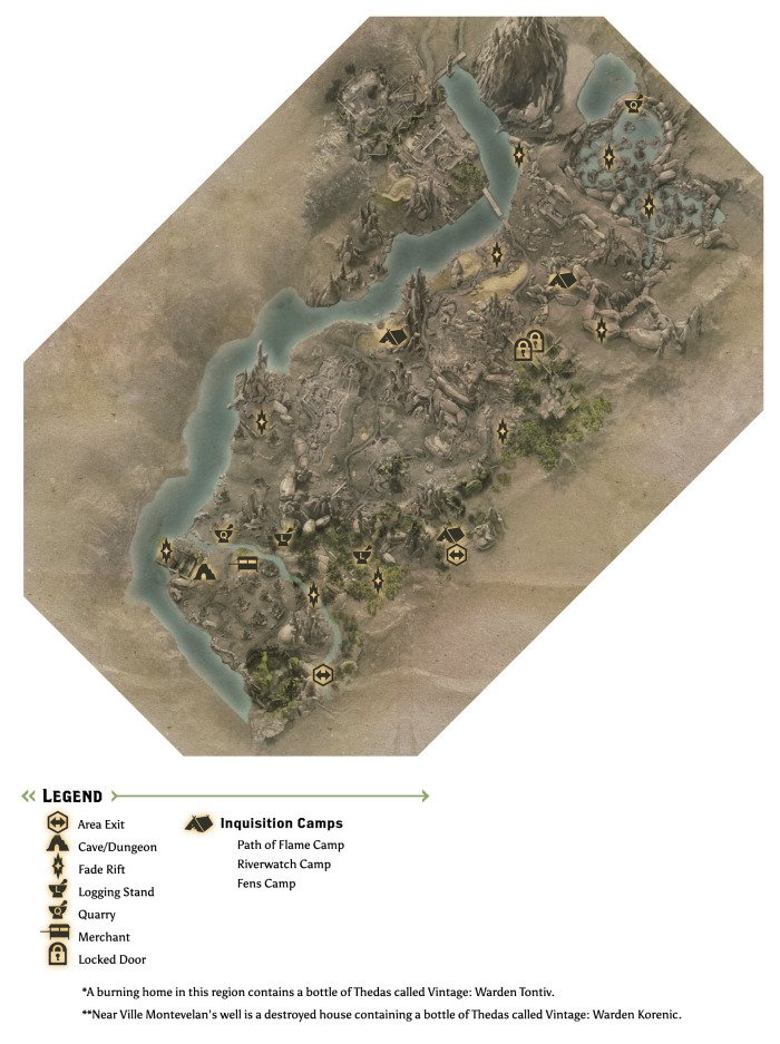 The Exalted Plains Map
