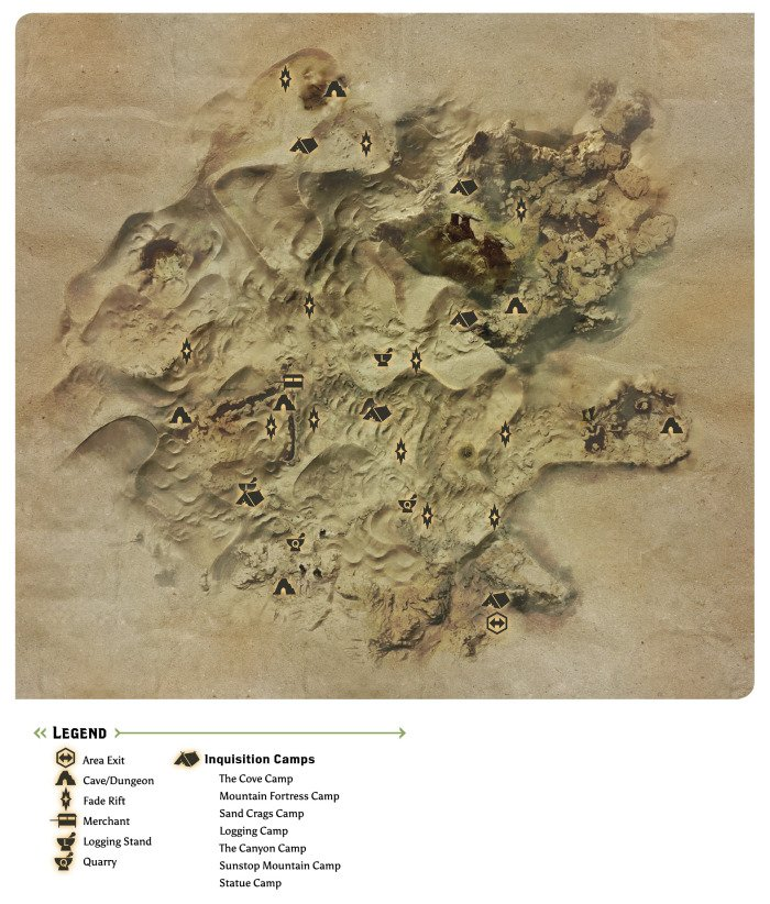 The Hissing Wastes Map